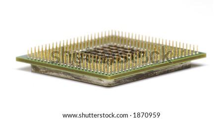 Computer Processor on White - stock photo