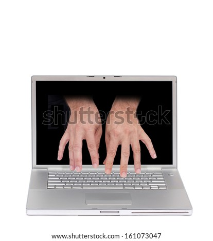 computer remote access - stock photo