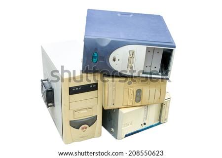 computer scrap - stock photo