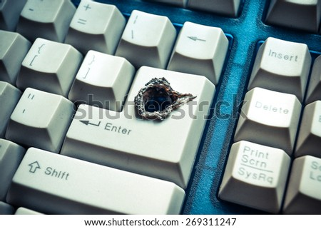 computer security breach                                - stock photo