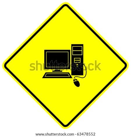 computer sign - stock photo