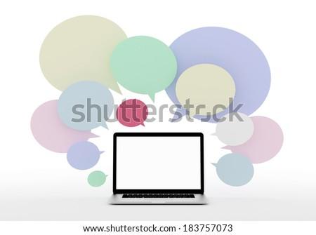 computer social media - stock photo