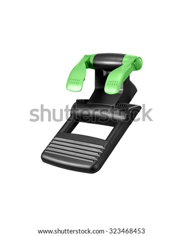 Computer steering pedals isolated on white background - stock photo