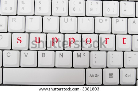 Computer support - stock photo