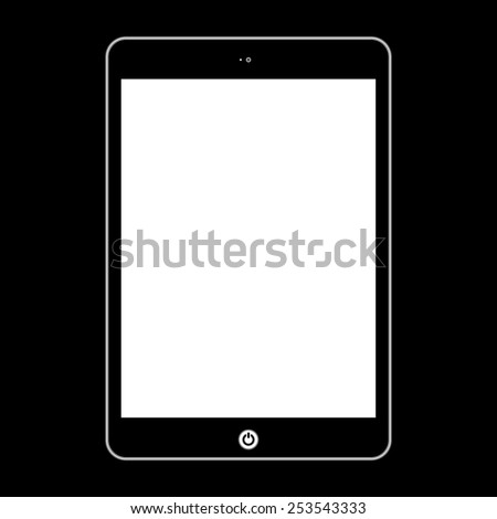 Computer tablet.  Illustration Similar To iPad. - stock photo