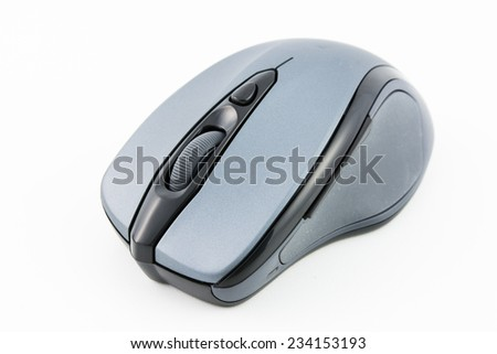 computer wireless mouse isolated on over white background - stock photo