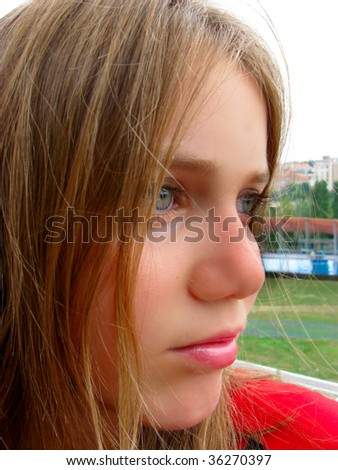 Conceived cute girl - stock photo
