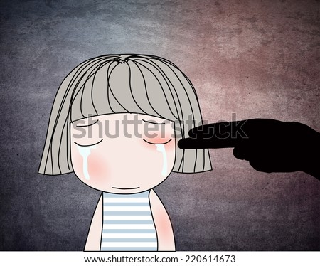 Concept about child abuse. - stock photo