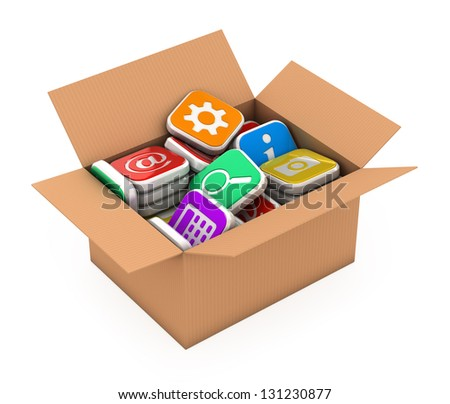 Concept application software storage - stock photo