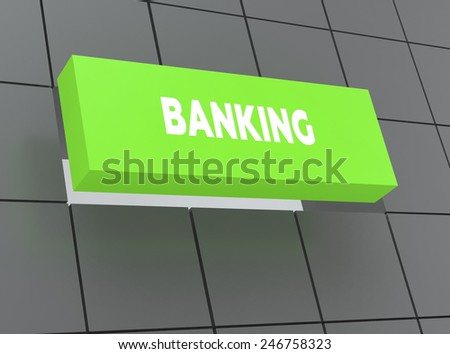 Concept BANKING - stock photo
