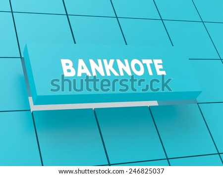 Concept BANKNOTE - stock photo