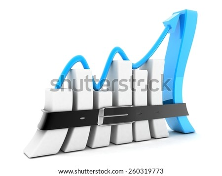 concept business graph - stock photo