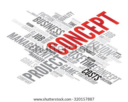 CONCEPT business in word tag cloud - stock photo