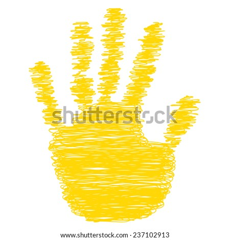Concept conceptual yellow text word cloud tagcloud as tree in man or woman hand on rainbow sky background and grass, metaphor to health, nutrition, diet, body, energy, medical, sport, heart science - stock photo