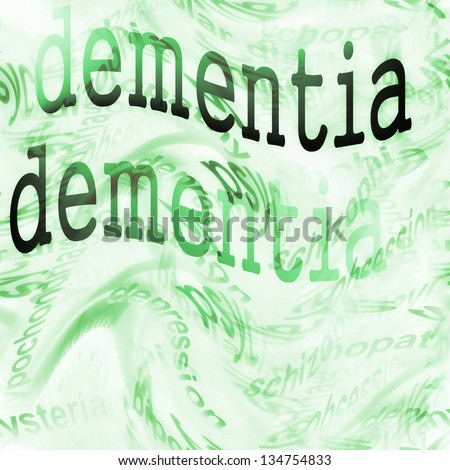 Concept  Dementia (Alzheimer) - stock photo