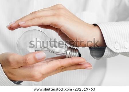 Concept, environmental, electricity. - stock photo