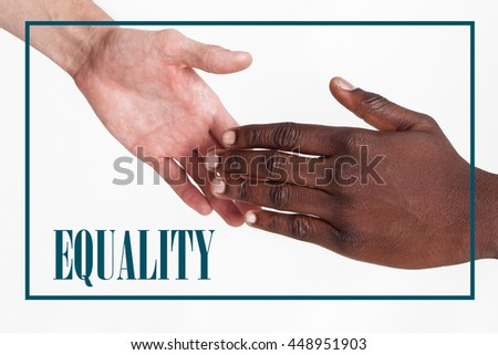 Concept. Equality. Equal rights. - stock photo