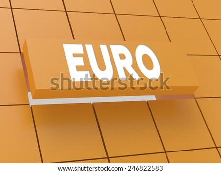 Concept EURO - stock photo