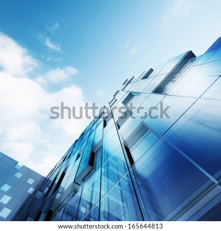 Concept exterior. Building design and 3d model my own - stock photo