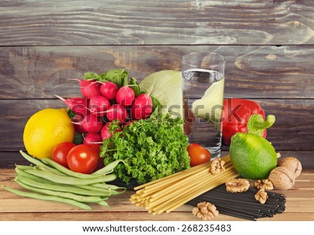 Concept, food, meal. - stock photo