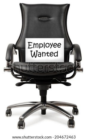 Concept for advertising for an employee - stock photo