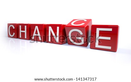 Concept for changing chance to change - stock photo