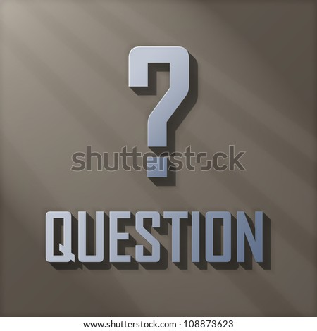 Concept For Confusion Present by Question Mark Sign and The Word Question - stock photo