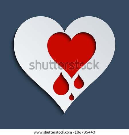 Concept for Heartbleed bug, love and heart health. - stock photo