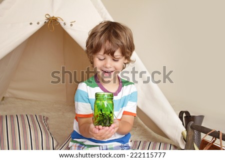 Concept for science education through indoor play for school and preschool aged children - stock photo