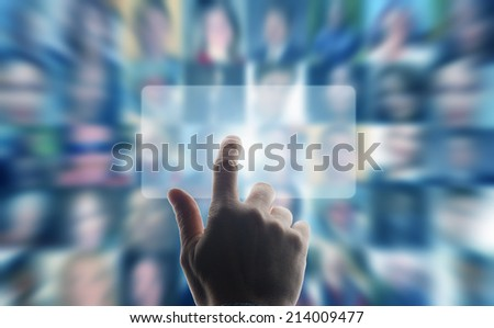concept for social networking and social media - stock photo