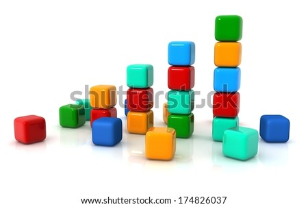 Concept growth of the business - stock photo