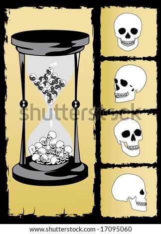 concept hourglass - stock photo