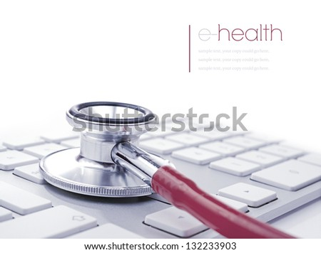Concept image for e-health or alternatively computer/PC health. Copy space. - stock photo