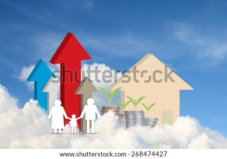 concept image of family paper - stock photo