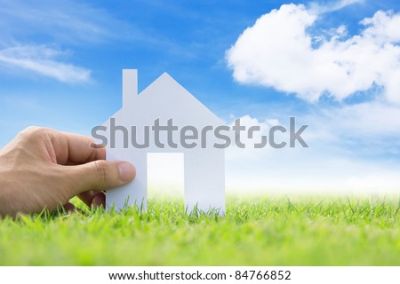 concept image of my dream house - stock photo