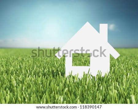 Concept image of my house - stock photo