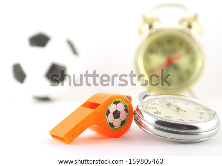 Concept image: time for football - stock photo