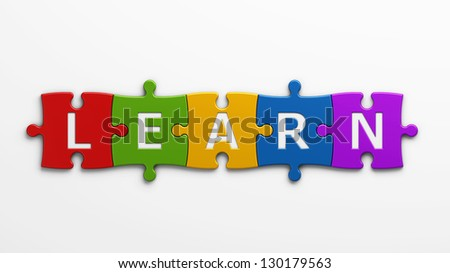 concept learn - stock photo