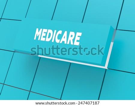 Concept MEDICARE - stock photo