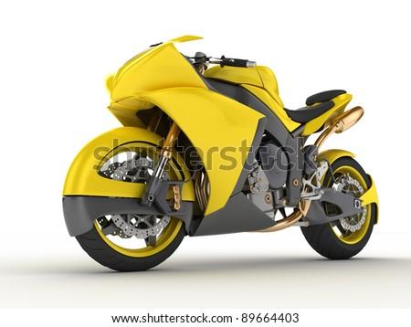 Concept motorbike - stock photo