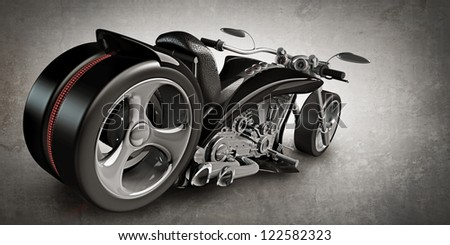 concept motorcycle (No trademark) High resolution 3D - stock photo