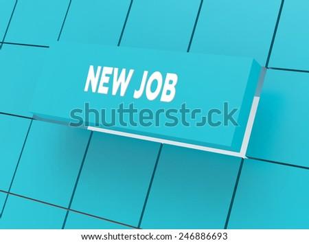 Concept NEW JOB - stock photo