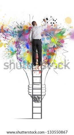 Concept of a big creative business idea - stock photo