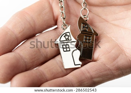 concept of a broken home - stock photo