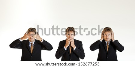 Concept of businessman and old proverb - stock photo