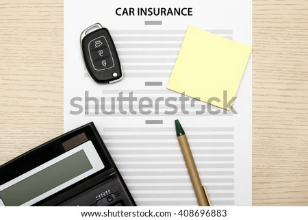 Concept of car insurance. - stock photo