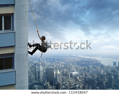 Concept of career in the job - stock photo