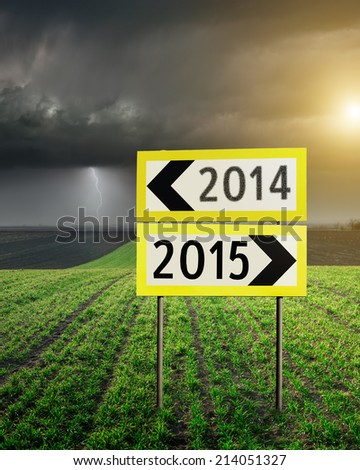 Concept of choose the correct or incorrect way for upcoming new year - stock photo