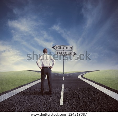 Concept of choose the correct way - stock photo