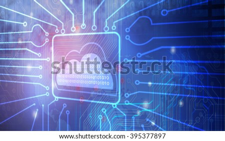 Concept of cloud computing. - stock photo